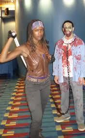 michonne and walker pet costume the walking dead halloween