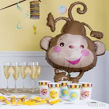 monkey decorations for baby shower jungle theme baby shower balloon decorations idea party city