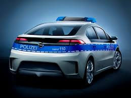 opel green opel ampera green police car going silent and fast to cover the