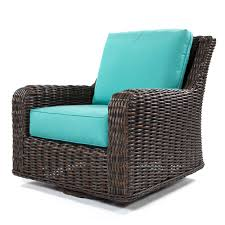 Swivel Wicker Patio Furniture by Ebel Laurent Chestnut Swivel Club Chair
