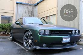 Dodge Challenger Modified - fully wrapped dodge challenger in urban jungle silver green by d u0026a