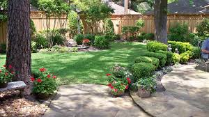 Privacy Backyard Ideas by Landscaping Along Privacy Fence Wood Fence Residential