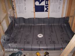 Installing Tile In Shower The Advantages Of Hot Mopping Your Shower Pan Vs Shower Pan Liner