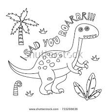 fun dinosaurs coloring stock vector 717309310 shutterstock