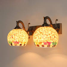 decorative shell shade lighting wall sconces for living room