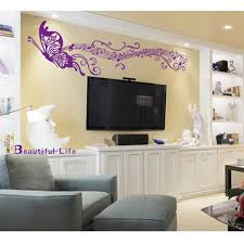 music note home decor diy home decoration romantic butterfly musical notes purple wall