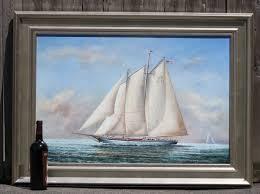 two masted schooner oil lannan gallery