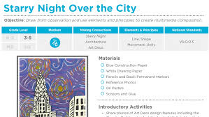 lesson plans the art of ed 5e model plan format 3 5 starry night