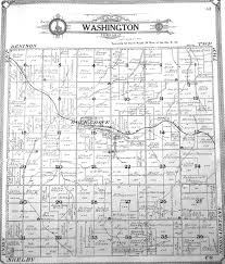Washington County Map by 1908 Washington Township Crawford County Iowa