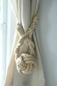 monkey fist knot hemp curtain tieback ties shabby chic
