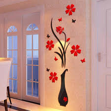 diy home decor wall diy home décor wall sticker flower and vase macybell