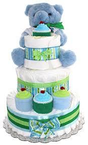 cake for baby shower 3 tier cake blue teddy cake for