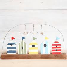 huts and seagull ornament huts seaside and