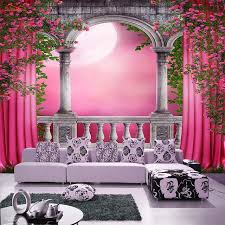 pink wallpaper for walls arched door pink curtain 3d room wall paper glitter wallpaper for