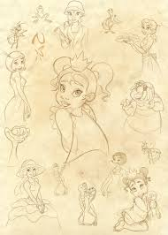 princess and the frog sketches by nippy13 on deviantart