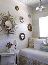 d coration mur chambre coucher design interieur aménager chambre déco murale miroirs soleil
