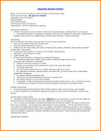 proper format of resume 12 correct format of resume forklift resume