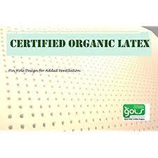 amazon com pure green 100 natural latex mattress topper soft
