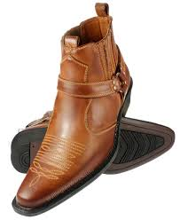 us brass mens eastwood tan brown high cuban heel cowboy ankle
