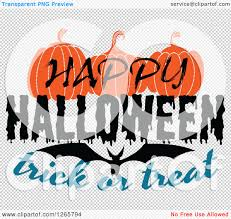 halloween bat no background clipart of a happy halloween trick or treat bat and pumpkin design