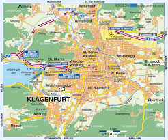 World Map Austria by Klagenfurt Map