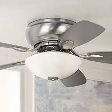 hugger style ceiling fan 44 casa habitat brushed steel hugger ceiling fan amazon com