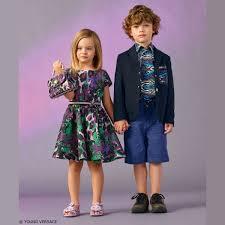 young versace girls purple u0026 green animal print dress and boys