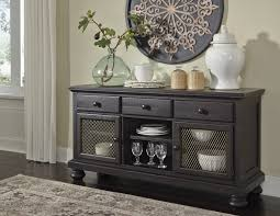ashley dining room ashley d635 60 sharlowe charcoal finish dining storage buffet server
