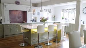 traditional in frame kitchen in painted sage grey and white