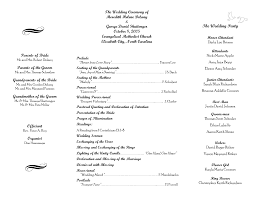 sle wedding programs outline beautiful sle of a wedding program pictures styles ideas