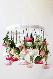 3 Diy Flower Chandeliers Try This Spring U2013 Adorable Home