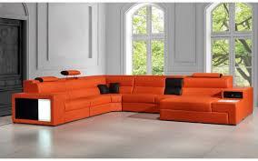 orange leather sectional sofa divani casa polaris contemporary bonded orange leather sectional