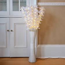 Fiber Optic Home Decor Floor Standing Fibre Optic Lamp Flowers Indoor White Lighting Home