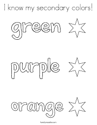 color the stars green purple and orange coloring page twisty
