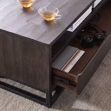west elm industrial storage coffee table logan industrial storage coffee table west elm