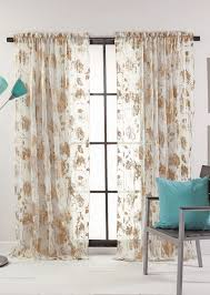 Turquoise Sheer Curtains Blossom Metallic Print Semi Sheer Curtains Stylemaster Curtains