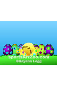 sports easter eggs softball easter egg row by sports zoo