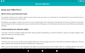 user guide for fitbit flex 2 android apps on google play