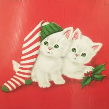 cat christmas wrapping paper vintage cat christmas wrapping paper norcross a purr fect christmas