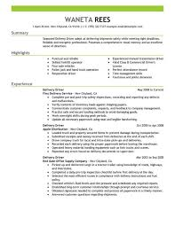 exle of a resume for a home delivery driver resume exles transportation emphasis