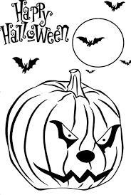 scary pumpkin free printable halloween coloring pages hallowen