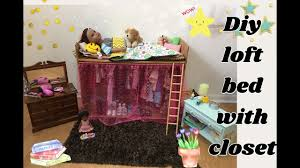 diy cardboard loft bed with closet 18inch doll furniture journey