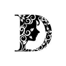 blocks letter d clipart black and white