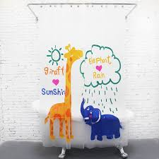 Curtain Cartoon by Fun Kids Shower Curtains Home Decor Inspirations