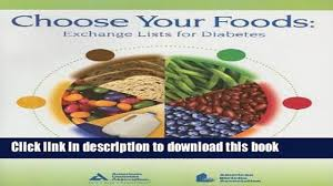 read pdf choose your foods exchange lists for diabetes download