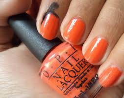 opi nail lacquer atomic orange and brights collection kit review
