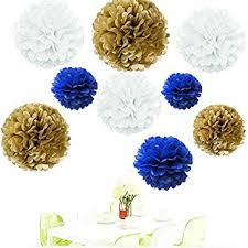 royal blue tissue paper since 18pcs of 8 10 14 3 colors mixed gold white
