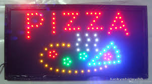 new special offer animated led pizza sign board 19x10 led neon