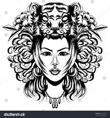 neo traditional tattoo style native american stock vector