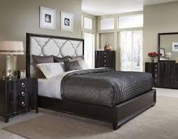 Upholstered California King Bed Buy Cosmopolitan California King Upholstered Panel Bed In Ebony